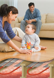 Radiant Floor Heating, Mother with Child
